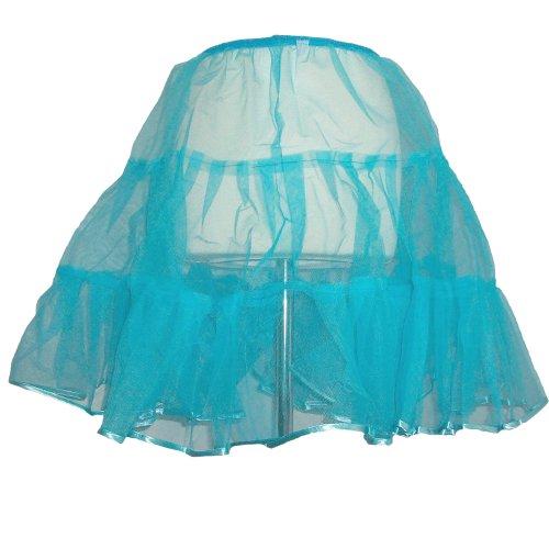 Petticoat 50Rock 'n Roll enagua Media Rock 34/36/38/40/42Varios Colores turquesa