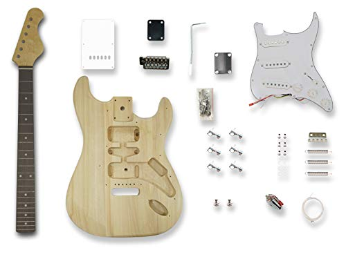DIY Electric Guitar Kits for Stratcaster Electric Guitar, Solid Wood Body,