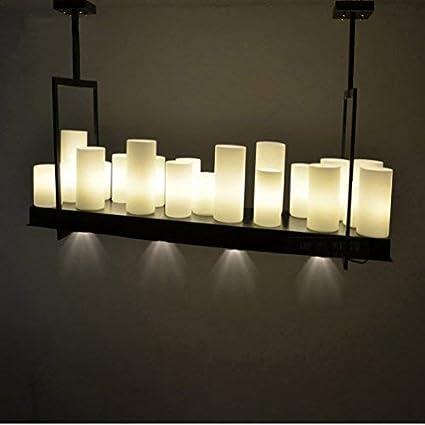 WOF Lámpara de Techo Rectangular de luz de Vela de ...