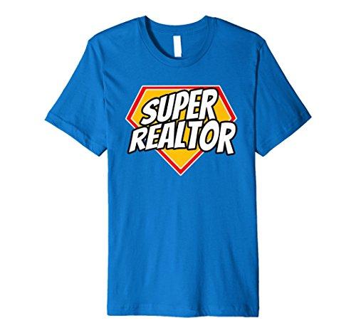 Mens Funny Super Realtor Superhero Real Estate T-Shirt Large Royal Blue -