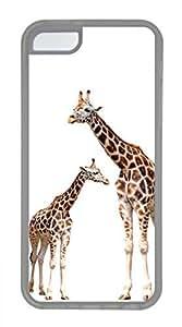 Brian114 iPhone 5C Case - Cute Three Giraffe Soft Rubber Clear iPhone 5C Cover, iPhone 5C Cases, Cute iPhone 5c Case
