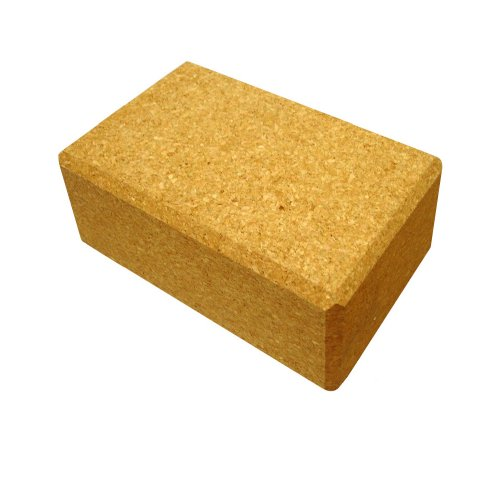 YogaDirect Cork Yoga Block, 4 Inch