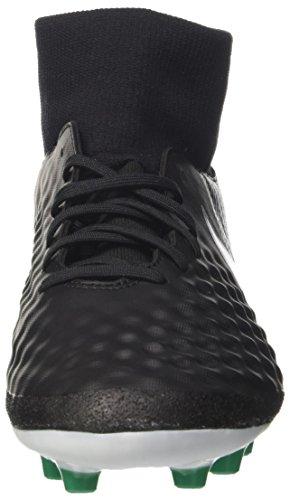 Nike Magista Onda II DF AG-Pro, Scarpe da Calcio Uomo Nero (Black/White/Dark Grey/Stadium Green)