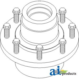 Parts Service Spindle - A&I - Hub Assembly, Rear Axle Spindle Service Kit. PART NO: A-AH173846