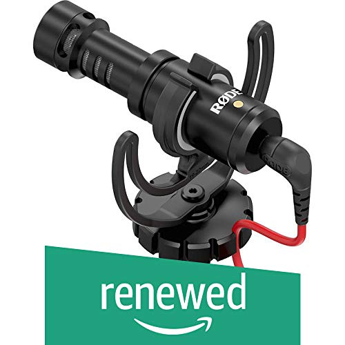 Rode VideoMicro Compact On-Camera Microphone with Rycote Lyre Shock Mount (Renewed)