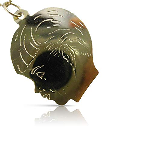 Milano Jewelers 14KT Yellow Gold Handcrafted Happy Baby BOY Floating Charm Pendant #24271 ()