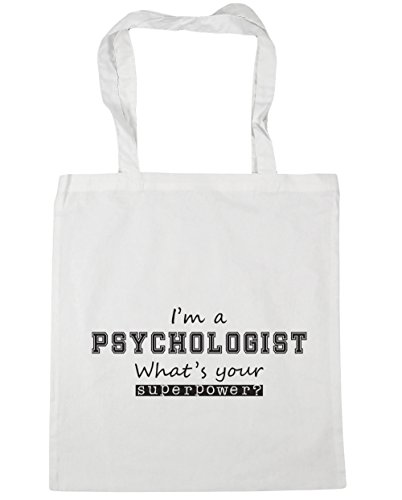Psychologist HippoWarehouse 10 Tote I'm a What's litres Gym Shopping Your x38cm Bag White Superpower Beach 42cm AFEFrxq