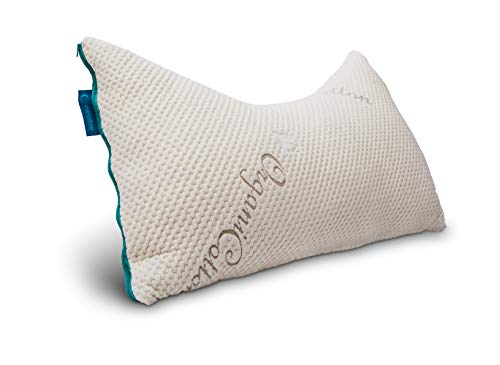 Everpillow by Infinitemoon- Curved KAPOK - Premium Fully Adjustable Zippered Curved Queen Bed Pillow - 100% Natural Kapok Fill - Organic Cotton Cover