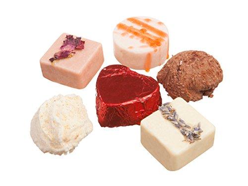 - Bath Melt Gift Set :Skin Softening Bath Truffles w/Fragrant Essential Oils : Natural, Organic, Vegan, Slightly Fizzy Bath Bombs :Variety 6 Pack, Made in USA, Cruelty Free, Gift Boxed by Tatum & Shea