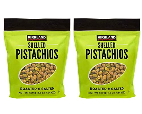 Kirkland Signature Shelled Roasted & Salted Pistachios: 2 Pack (3 lbs)