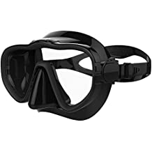 Kraken Aquatics Snorkel Dive Mask with Silicone Skirt and Strap for Scuba Diving, Snorkeling and Freediving