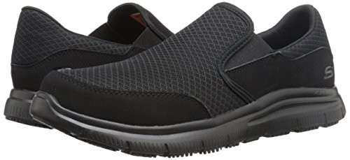 Skechers Men's Black Flex Advantage Slip Resistant Mcallen Slip On - 10.5 D(M) US by Skechers (Image #6)