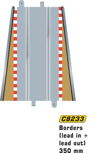 Scalextric C8233 Borders Tan Lead In/Lead Out 13.75 inches
