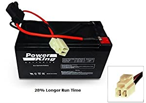 Upgrade for 28% Longer Run Time With a 12V 9ah Razor E90 Accelerator Scooter Replacement Battery W13111401003 Beiter DC Power