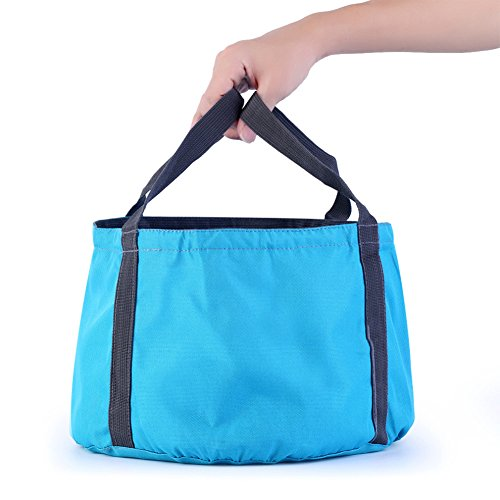 good0110L Folding Wassereimer Outdoor Travel Camping Waschbecken waschen Tasche blau