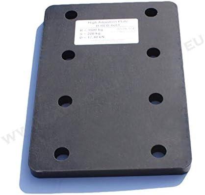 Universelle Adapterplatte Zur Höhenverstellung 4x56 Der Anhängerkupplung Für 4 Loch Flanschkugeln Höhenverstellbare Ahk Auto