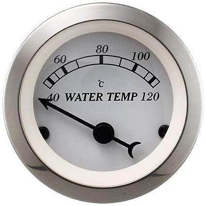 MOTOR METER RACING 2 52mm Antique Classic Water Temperature Gauge Black Dial Chrome Bezel Include Sensor I GAUGE TECHNOLOGY CO LTD