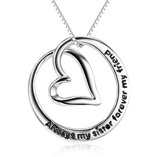 "Sterling Silver ""Always My Sister Forever My Friend"" Love..."