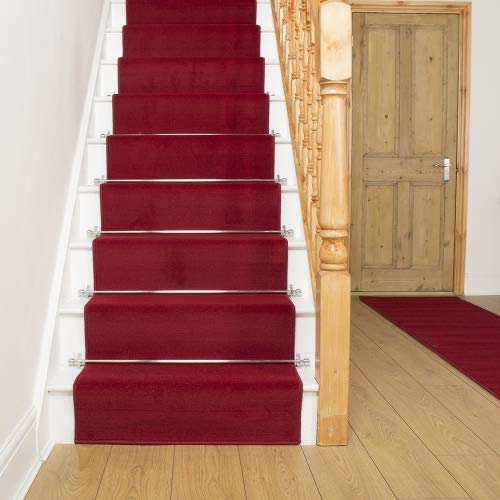 Carpet Runners UK , , , rot Uni – Hall, Treppe Teppich Läufer (erhältlich in Jede Länge bis 30 m) B01K281GW0 Lufer 227102