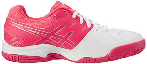 Asics Gel-Game 5 Gs, Zapatillas de Tenis Unisex Niños Blanco (White/diva Pink/silver)