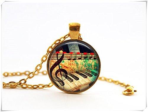 Klavier Musik Note Halskette Sound of Music Halskette Gold Musik Halskette Geschenk f/ür Pianist Geschenk f/ür Musiker Jewelry Klavier Tastatur Halskette