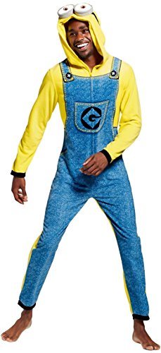 Men's Minion Union Suit Fleece One Piece Pajama (X-Large, Despicable Me/Minion Union (Despicable Me Onesie)