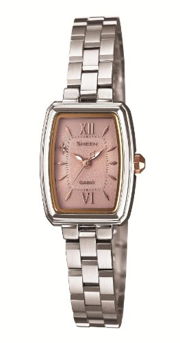 Casio Sheen featured tonneau-shaped Analog watch SHE-4504SBD-4AJF Ladies Watch Japan import