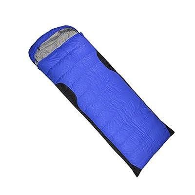 ZHUDJ Sac De Couchage Bas Piscine Extérieure Pour Adultes Ultra Portable Enveloppe Épaissie Couple En Option Quatre Sacs De Couchage Bas, Bleu