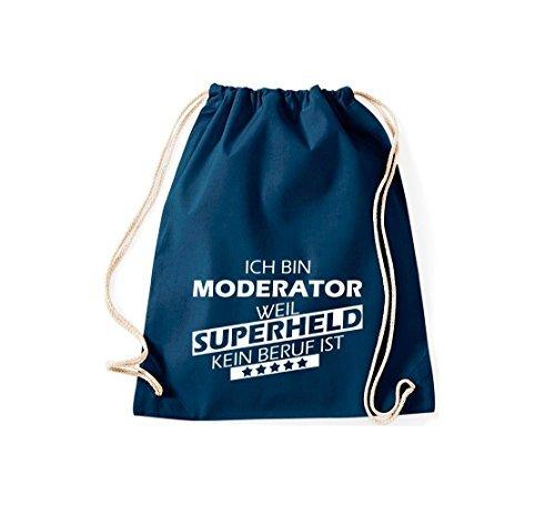 Shirtstown Bolsa de gimnasio Estoy Asesor de la, weil Super héroe sin Trabajo ist Azul