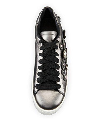 Entrenador Tea Rose Metallic Leather Low-top Sneaker