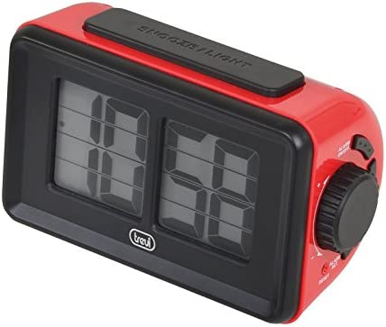 Trevi Digital Clock with Flip Animation 12 cm Red Japan's largest assortment Bombing free shipping 6.1 x 8