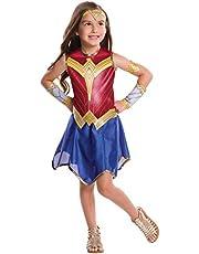 Rubies - Disfraz Oficial de Wonder Woman para Mujer, Talla L7/8 años (117 a 128 cm)
