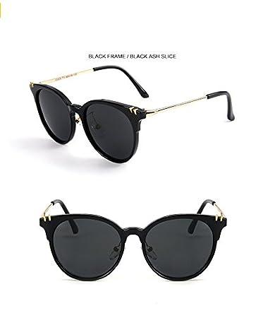 Yao Kind Sonnenbrille, Kinder Polaroid Sonnenbrille Mode Cute Cat Eye Sonnenbrille Schutzbrillen UV400 Spiegel für Jungen Mädchen Kinder Baby (Farbe : Black)