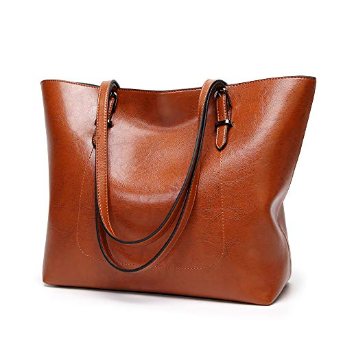 Cawmixy Purses and Handbags for Women Tote Satchel Shoulder Bags Classic Woman Clutches Bags (brown) ()