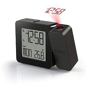 Oregon Scientific RM338P Reloj proyector con despertador y temperatura interior, alarma dual, pantlla LCD retroiluminada, Negro 5