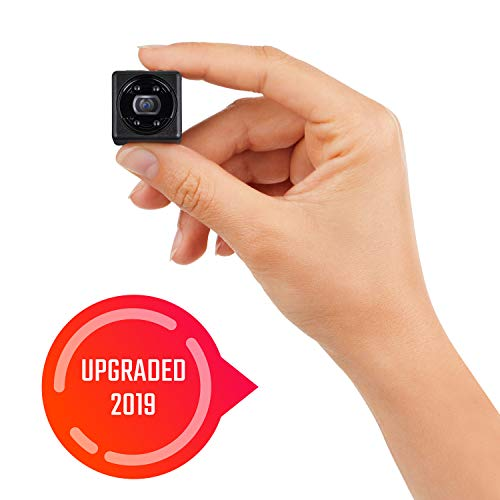 Lilexo Mini Camera - 1080P Small Security Camera - Cop Cam - Mini HD Action/ Nanny Cam with Night Vision & Motion Detection - Indoor/Outdoor Portable Covert Camera for Home, Car, Office (2019 Upgrade)