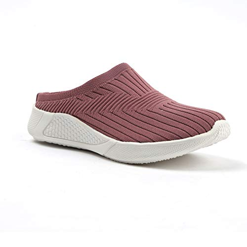 Sapatos Womens Back Open Sports Shoes, Running Shoes, Ideal for Women, Walking, Gym, Trekking, Hiking, Jogging, Comfortable, Stylish, Long Lasting, Light Weight and Durable (ST-6107-P)