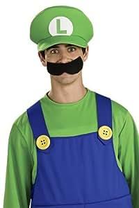 Nintendo Super Mario - Gorra de Luigi (no incluye el bigote) para disfraz