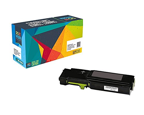 Do it Wiser Extra High Yield Compatible Toner Cartridge for Xerox Phaser 6600 WorkCentre 6605 - Yellow - 6,000 pages
