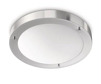 Philips Salts Plafonnier Chrome Luminaire Salle De Bain Metal Metallique 1 X 20 W