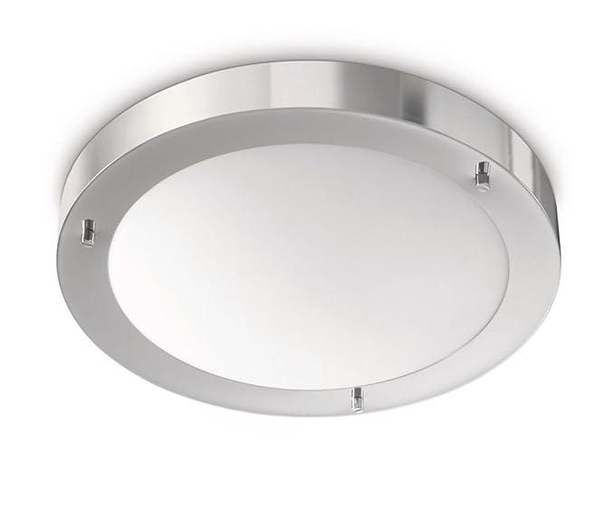 Philips salts lampada bagno soffitto metallo cromo con vetro