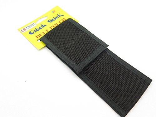 Lansky Vintage Knife Sharpener Crock Stick Black Nylon Pouch Sheath USA Camping Hunting Fishing
