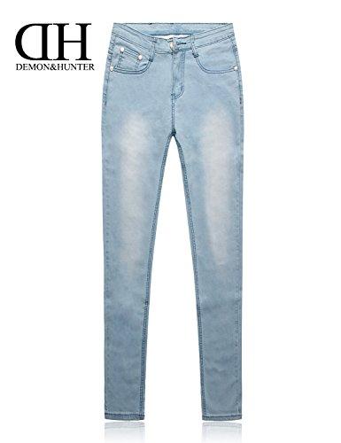 X Pitillos Vaqueros Claro Series Skinny 608 Pantalones Elevar amp;hunter Jeans Azul Dh6008 Curva Mujer Demon xYqzn67wE