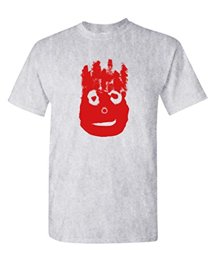 The Goozler Volleyball Bloody FACE - Ocean Movie Hanks - Mens Cotton T-Shirt, 2XL, Sport ()
