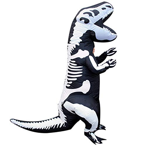 Awesome Halloween Costumes For 11 Year Olds (Morph Kids Skeleton Dinosaur T-Rex Inflatable Costume - Slight Colour Run)