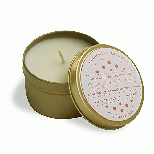 BonBon Cheers to Rosé Wine Scented Candle - The Perfect Bridesmaid Candle