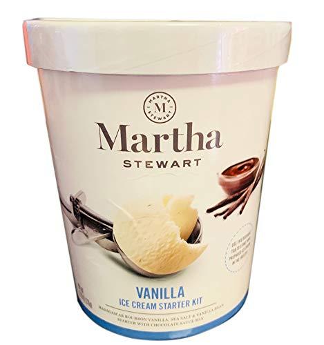 Martha Stewart Vanilla Ice Cream Starter Kit 9.16 Oz! Madagascar Bourbon Vanilla Sea Salt And Vanilla Bean With Chocolate Sauce Mix! Delicious Homemade Tasty Ice Cream! Choose Your Flavor! (Vanilla)