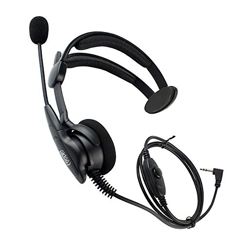 The Ear Over Motorola Headset (Coodio Over-the-Head Earpiece Headset [Swivel Boom Microphone] [Noise Cancelling] For 1 Pin Motorola Talkabout 2 Way Radio Walkie Talkie)