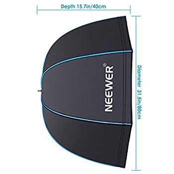 Neewer 31.5 Inches 80 Centimeters Portable Octagonal Umbrella Softbox For Studio Flash, Speedlite, With White Diffuser & Carrying Bag For Portrait Product Photography (Blackblue) 1