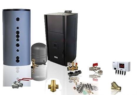 Agua Líder Pellet Horno Eco bajo Alba 15 kW B Juego completo de higiene Memoria: Amazon.es: Bricolaje y herramientas